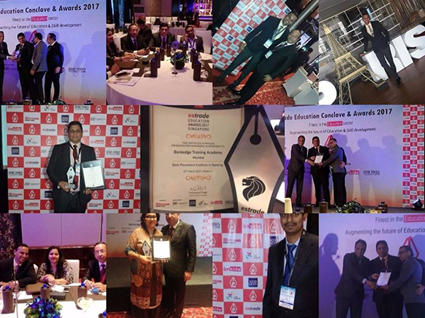 "BANKEDGE Wins the ""Best Placement Academy in Banking"" Award 2017 at Estrade Singapore - Education Conclave and Awards 2017"