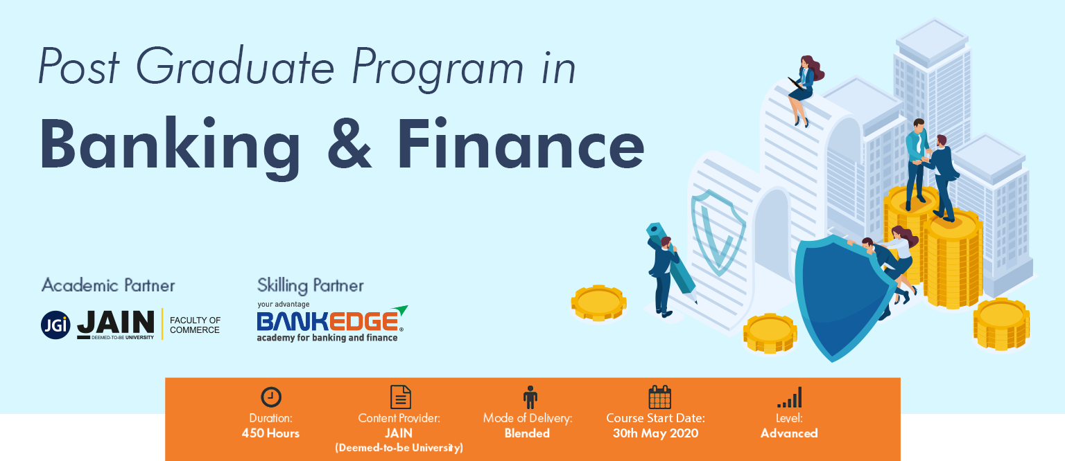 Post Graduate Program in Banking and Finance Banner