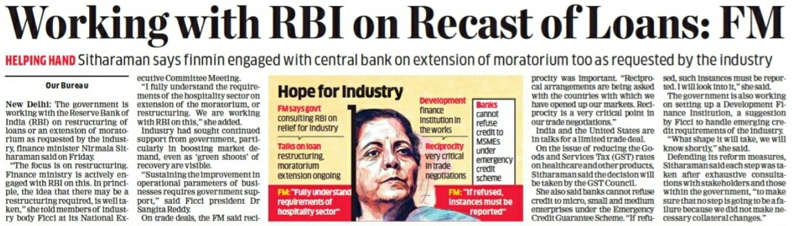 Article on Recast of loans