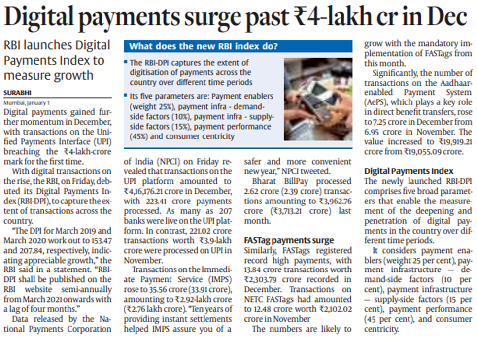 Article on digital payments
